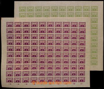 213356 - 1919 ARCHOVINA /   Pof.S1-2, 2h červenofialová a 5h světl