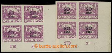 213372 -  Pof.SO2RT, SO2DV, Hradčany 3h fialová nezoubkovaná, 2x p