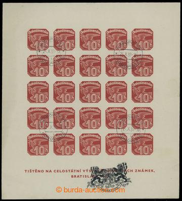213392 - 1939 AS2a VV, Novinový aršík 1937, výstava NY 1939, čer