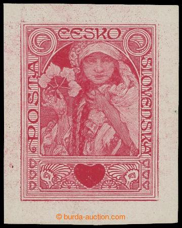 213394 -  ZT  MUCHA Alfons (1860-1939), zkusmý tisk nepřijatého návrh