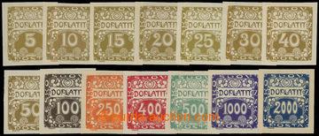 213402 - 1919 Pof.DL1-DL14, Ornament 5h - 2000h; kompletní série, svě