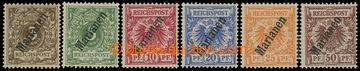 213456 - 1900 MARIANEN / Mi.1II-6II, Krone / Adler 3Pfg-50Pfg; bezvad