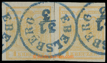 213474 - 1850 Ferch.1HIb, 2x Znak 1Kr Ib typ ruční papír s jasně