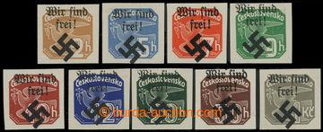 213491 - 1939 MÄHRISCH OSTRAU / Mi.32-40, WIR SIND FREI na Novinových