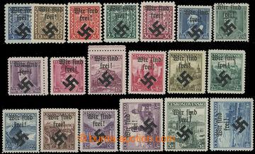 213493 - 1939 MÄHRISCH OSTRAU / Mi.1-19, WIR SIND FREI na výplatních