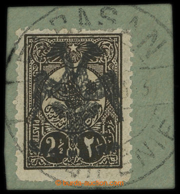 213505 - 1913 Mi.9, Eagle on Turkish 2½; piaster, on cut-square