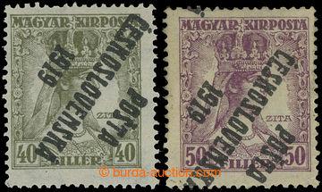 213546 -  Pof.122Pp + 123Pp, Zita 40f olivová a 50f fialová, obě s př