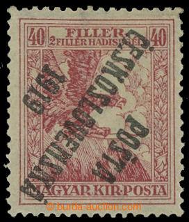 213559 -  Pof.98Pp, 40+2f červená, převrácený přetisk IV. typu;