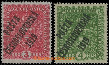 213562 -  Pof.49I, Znak 3K světle červená, úzký formát + Pof.50II, Zn