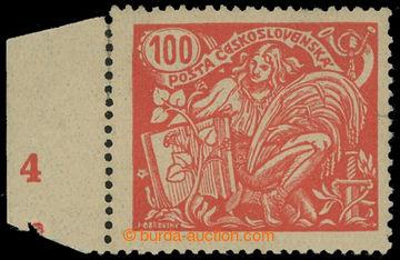 213569 -  Pof.173B, 100h červená, levý krajový kus s DČ 4, III.