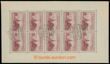 213601 - 1954 Pof.PL774, Mauzoleum 1,20Kčs karmínová, DR PRAHA 3/