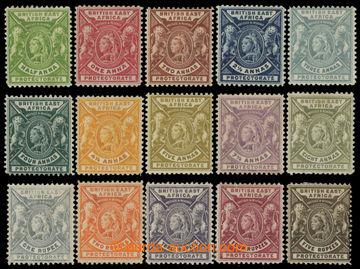213727 - 1896 SG.65-79, Viktorie 1/2-5Rp, kompletní; velmi pěkná k