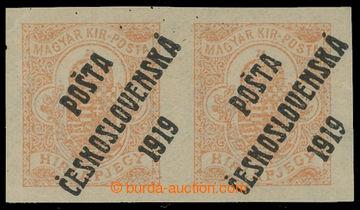 213784 -  Pof.125y, Novinová 2f červenoranžová ve vodorovné 2-PÁSCE s