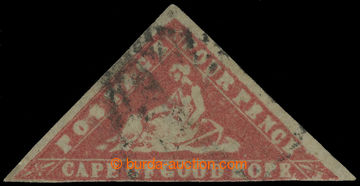 213787 - 1861 SG.14ea, WOODBLOCK FOUR PENCE CARMINE ERROR OF COLOUR -