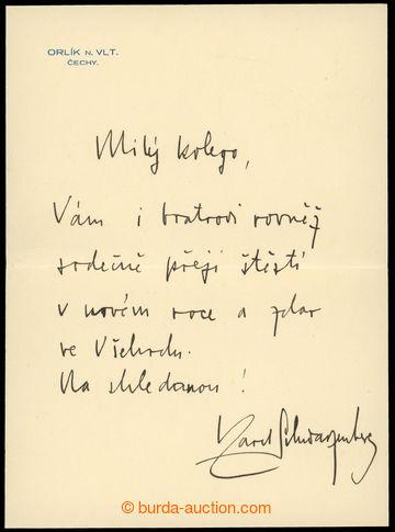 213802 - 1934 SCHWARZENBERG Karel VI. (1911-1986), český šlechtic,