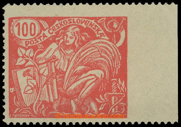 213865 -  Pof.173A VV, 100h červená s pravým okrajem s VV - vynechaná