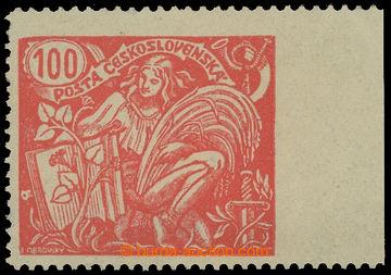 213865 -  Pof.173A VV, 100h červená s pravým okrajem s VV - vynech
