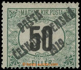 213905 -  Pof.130Py, Černé číslice 50f zelená / černá, průsvi