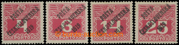 213945 -  Pof.66-69, Large numerals 4h-25h, comp. of 4 stamp., value