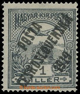 213959 -  Pof.89, 1f šedá / černá, průsvitka z, přetisk IV. typ