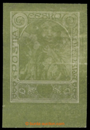 213960 -  ZT  MUCHA Alfons (1860-1939), zkusmý tisk nepřijatého návrh