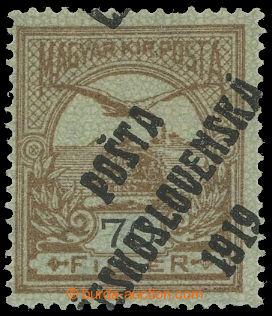 213965 -  Pof.95, 70f hnědá / černá, průsvitka z, III. typ přet
