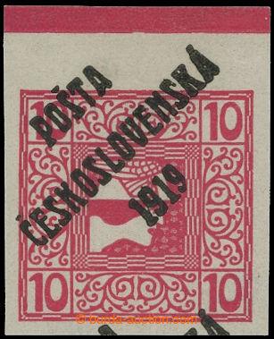 213967 -  Pof.59, Merkur vpravo 10h červená s horním okrajem a otiske