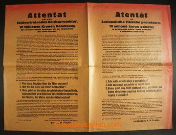 214095 - 1942 PROTEKTORÁT / vyhlášení odměny 10.000.000K za info