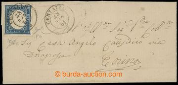 214174 - 1861 dopis vyfr. zn. Viktor Emanuel II. 20c kobaltově modrá