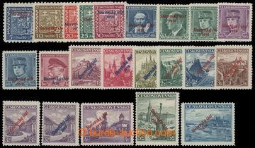 214180 - 1939 Sy.2-22, Přetisková emise 5h-10Kč, kompletní přetisková
