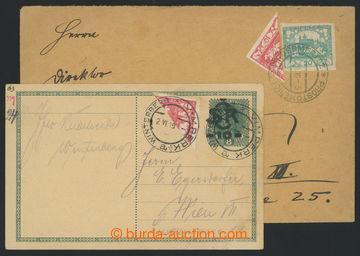 214195 - 1919 sestava 2ks celistvostí adresovaných do Rakouska s p�
