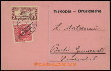 214198 - 1919 SPĚŠNÁ / OBDÉLNÍK  card sent as Spěšný Printed