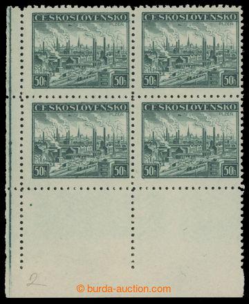 214249 - 1939 DOTISKY / Pof.7a, Plzeň 50h zelená, levý dolní rohový 4