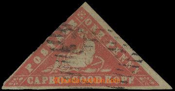 214251 - 1861 SG.13, WOODBLOCK ONE PENNY světle červená (vermilion);