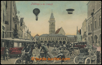214295 - 1910 SLAVONICE (ZLABINGS) - město v budoucnosti, koláž, p