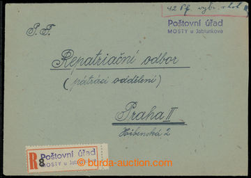 214356 - 1945 R-dopis vyplacený v hotovosti v německé měně, ruko