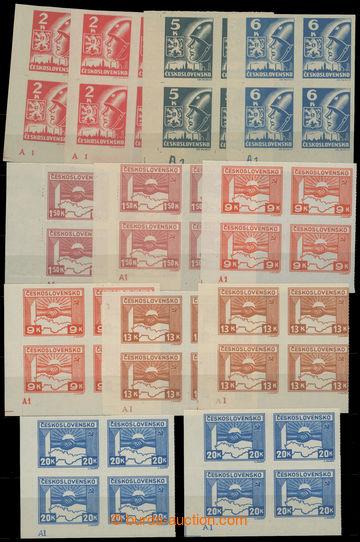 214372 -  Pof.353-359, 2K-20K, kompletní sestava 12ks 4-bloků s des