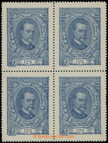 214460 -  Pof.140 ST, 125h modrá ve 4-bloku, spojený typ I+II; luxu