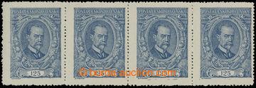214467 -  Pof.140 ST, 125h modrá, vodorovná 4-páska, 2x spojené t