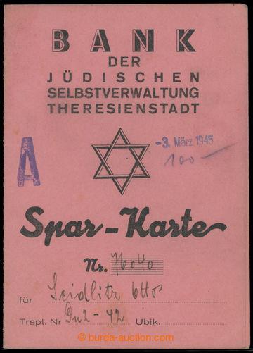 214586 - 1945 TEREZÍN / Spořitelní knížka Banky židovské samosprávy v