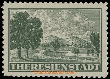 214598 - 1943 Pof.Pr1A, Připouštěcí známka tmavě zelená s perf