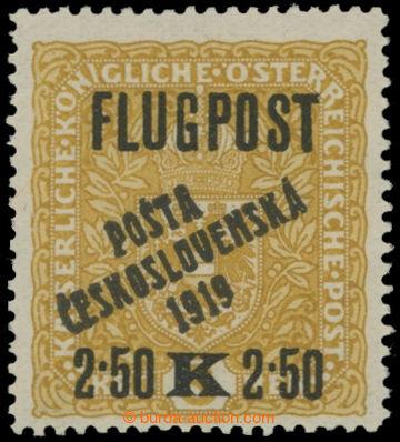 214733 -  Pof.53, Letecká s přetiskem FLUGPOST 2,50K/3K žlutá / černá