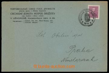 214763 - 1938 ZÁBOR PODKARPATSKÉ RUSI  firemní dopis s přítiskem
