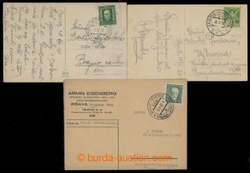 214765 - 1925-1932 sestava 3ks pohlednic a lístku s raz. VLP, obsahu