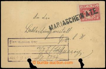 214777 - 1919 MARIASCHEIN A.T.E.  firemní lístek vyfr. zn. Hradčan