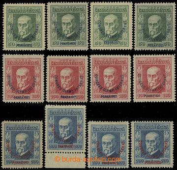 214802 - 1925 Pof.180-182, Kongres 50h-200h, kompletní sestava dle pr
