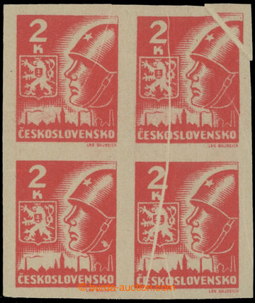 214837 -  Pof.354VV, 2K červená, 4-blok s výraznými složkami pap