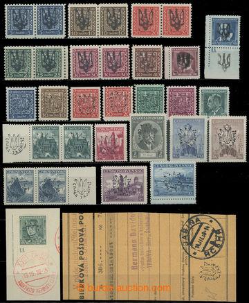 214899 - 1939 JASIŇA / sestava 23ks čs. známek s místním přetis