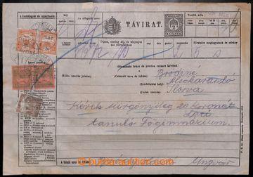 214903 - 1917-1944 BAŤU/ SOBRANCE/ UŽHOROD / celinový dofr. telegr