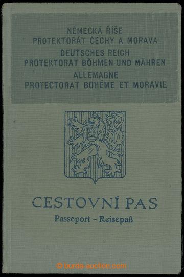214929 - 1939 CESTOVNÍ PAS / PROTEKTORÁT / původně ČSR cestovní pas s